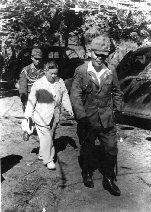 Пленные японцы. Манчжурия, 1945 г.