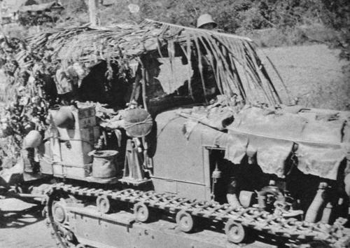 Артиллерийский трактор в камуфляже. Филиппины 1942 г.