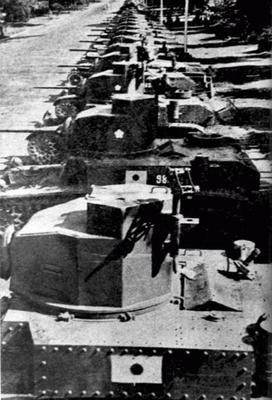 Американские танки, захваченные на Филиппинах. 1942 г.