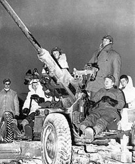 Шведские добровольцы с зенитным орудием. 15 января 1940 г.