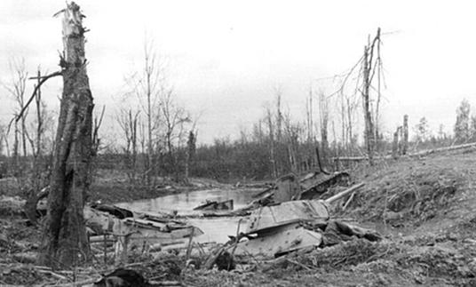 Застрявшие советские танки. 1943 г.