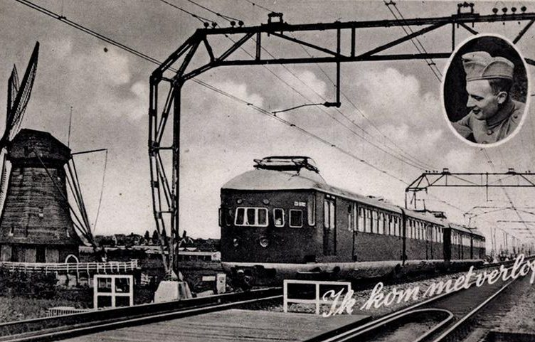 Открытка - Голландская железная дорога.