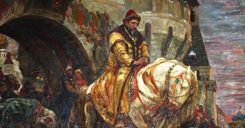 Картина Михаила Панина «Тайный выезд Ивана Грозного перед опричниной».