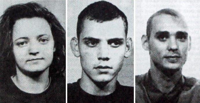 Члены NSU: Беате Цшепе, Уве Бёнхардт и Уве Мундлоc (слева направо).