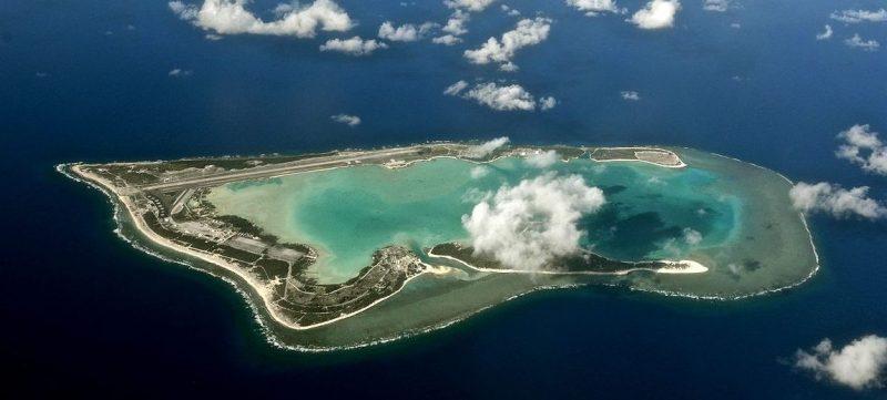 Острова Уэйк, Уилкс и Пил с высоты.