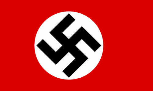Главный символ нацистов – флаг со свастикой.