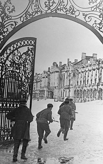 Бой за город Пушкин.