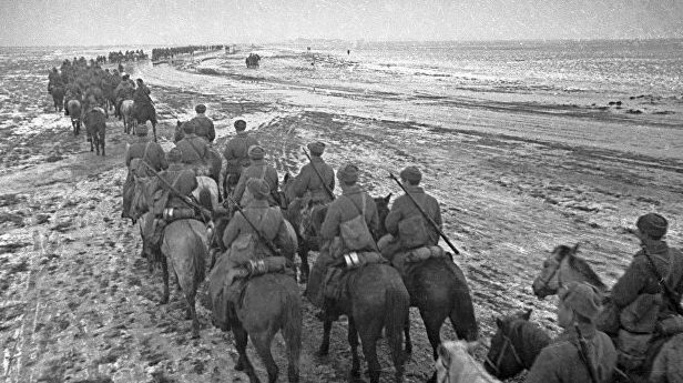 Советские кавалеристы в Полесье.