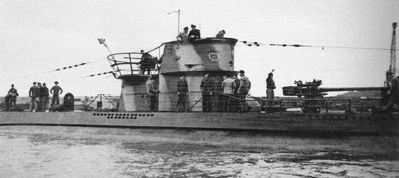 Немецкая субмарина «U-202» типа VIIC.