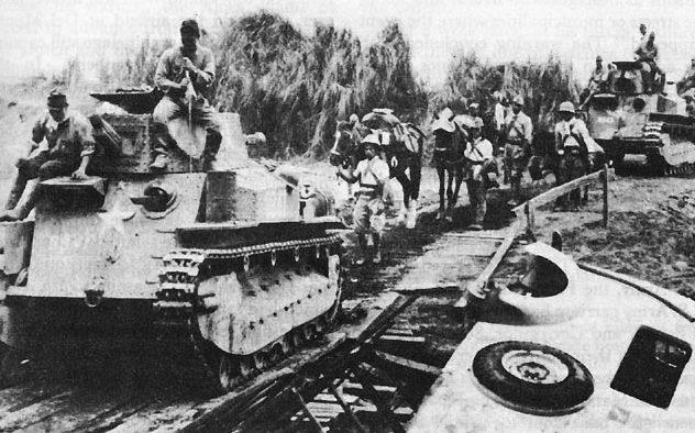 Японские танки наступают на Манилу
