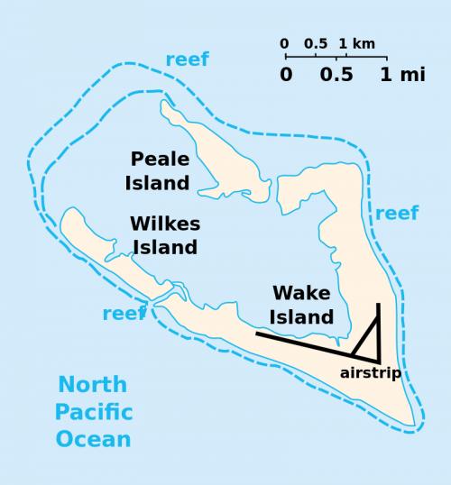 Карта-схема островов атолла.