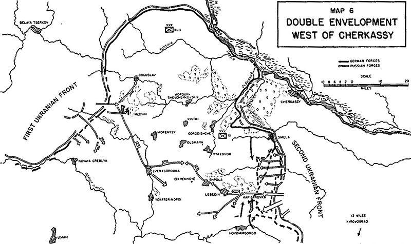 Карта-схема Черкасского котла.