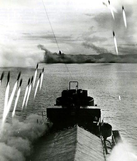Обстрел острова Миндоро ракетами.