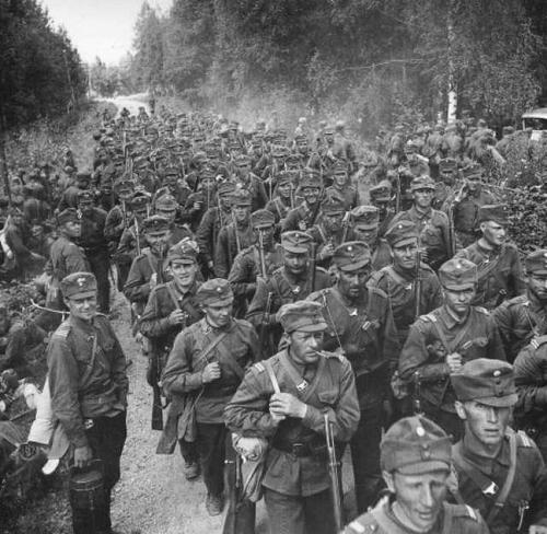 Финские резервисты на военных учениях у восточной границы. Октябрь 1939 г.