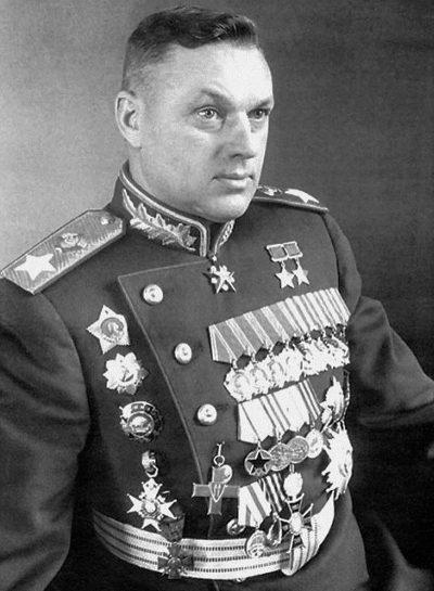 Маршал Советского Союза К. К. Рокоссовский.