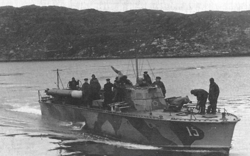 Торпедный катер, используемый при высадке десанта.