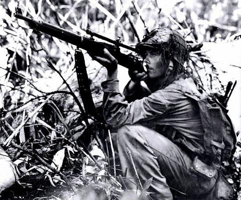 Снайпер на острове Новая Джорджия. Лето 1943 г.