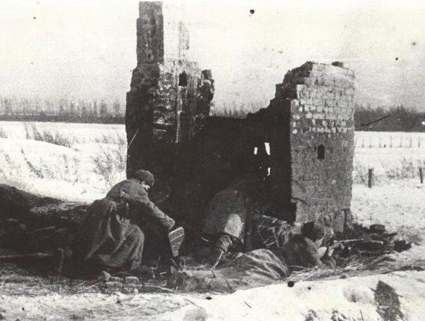 Бой на подступах к городу. 1941 г.