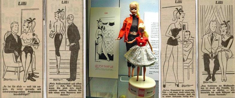 Кукла Лилли - героиня комиксов немецкой газеты «Der Bild».
