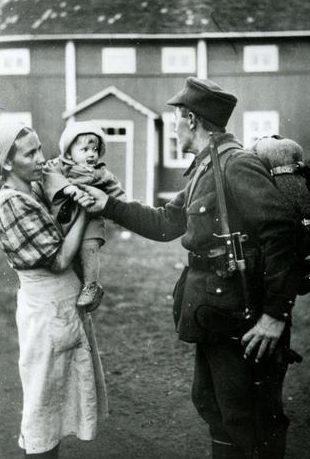 Прощание с семьей. 1939 г.