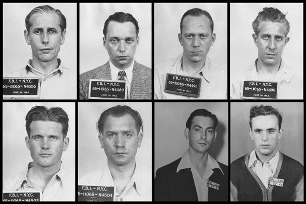 Немецкие диверсанты в тюрьме.