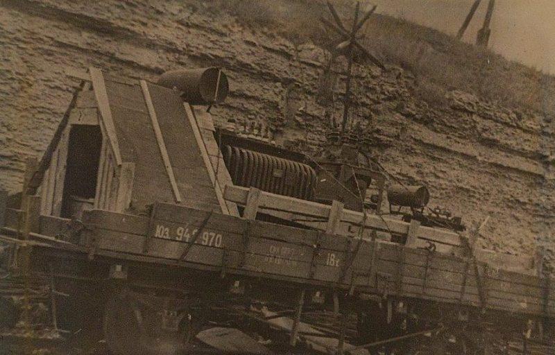 Оборудование Волховской ГЭС, подготовленное для эвакуации на Урал. Ноябрь 1941 г.