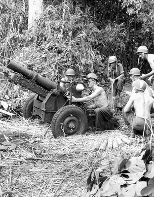 Морские пехотинцы в Надзабе. Сентябрь 1943 г.