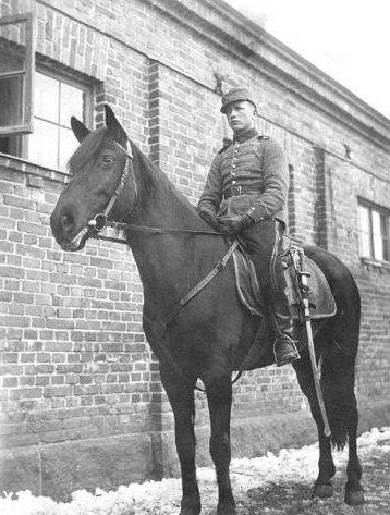 Финский драгун в Лаппеенранте. 1939 г.
