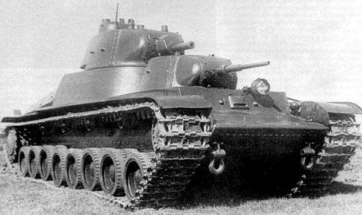 Советский тяжелый танк прорыва Т-100. Осень 1940 г.