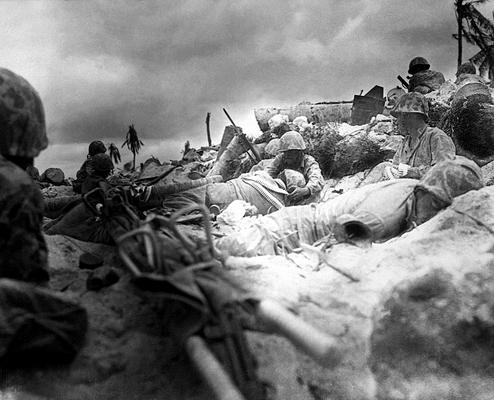 Высадка десанта на атолле Тарава. Октябрь 1943 г.