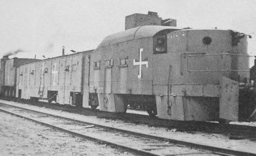 Финский бронепоезд в Säiniö незадолго до начала Зимней войны. 1939 г.