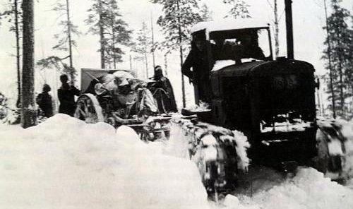 Финская буксируемая артиллерия. Ноя, 1941 г.