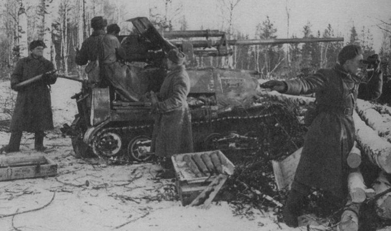 Противотанковая САУ ЗиС-30, построенная на шасси тягача «Комсомолец. 1941 г.
