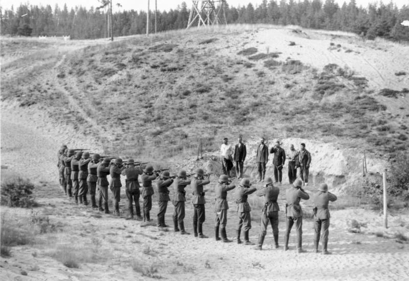 Расстрел партизан. 1941 г.