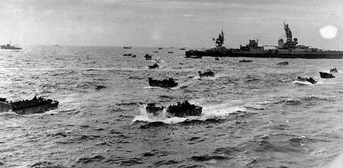 Высадка десанта на мысе Глостер острова Новая Британия. Январь 1944 г.