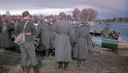 Финские войска на переправе. 1941 г.