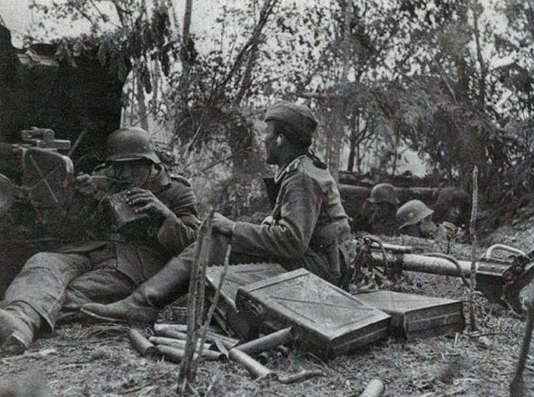 Противотанковая артиллерия у Волхова. 1942 г.