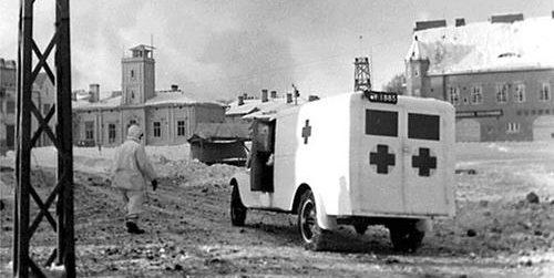Полевая скорая помощь в Сортавале. 1940 г.