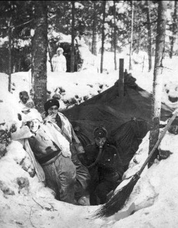 Закопанная палатка в Уомаа. 25 февраля 1940 г.