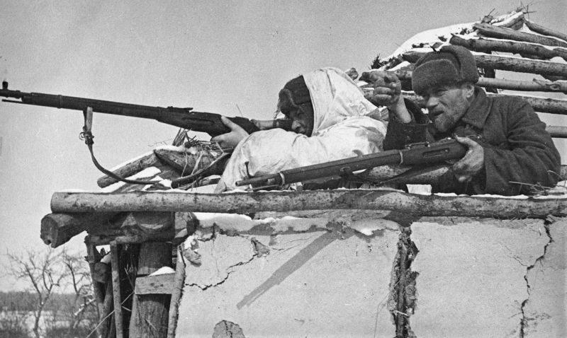 Партизанский дозор. 1942 г.