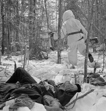 Атака на окруженные советские войска в Пертярви. 17 апреля 1942 г.