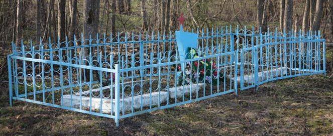 д. Утоки Рославльского р-на. Братская могила 8 советских воинов.
