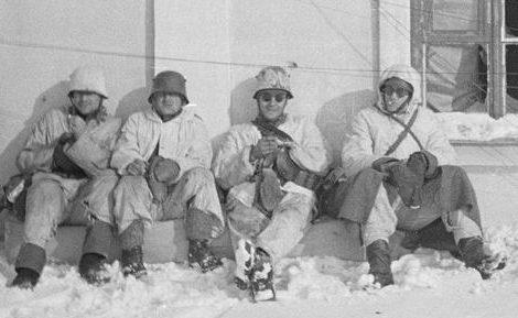 Защитники Виипури отдыхают. 1940 г.