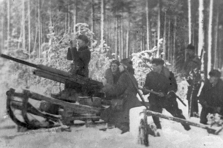 Партизанская артиллерия. 1942 г.