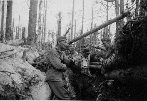 Финские солдаты в окопах. 1940 г.