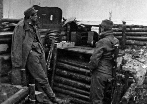 Шведские солдаты на фронте. 1940 г.