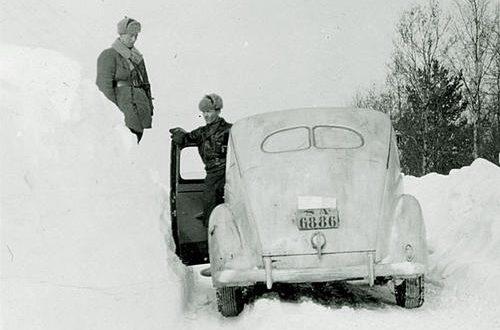Штабные офицеры на фронте. 1940 г.