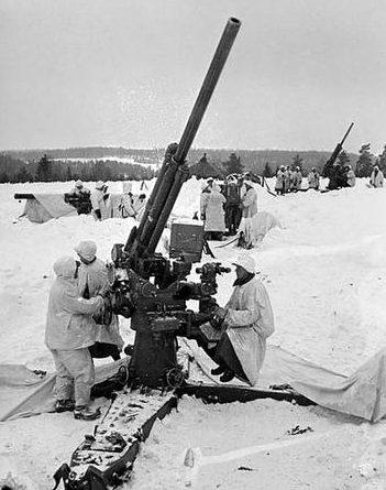 Финская зенитная артиллерийская батарея. 1940 г.