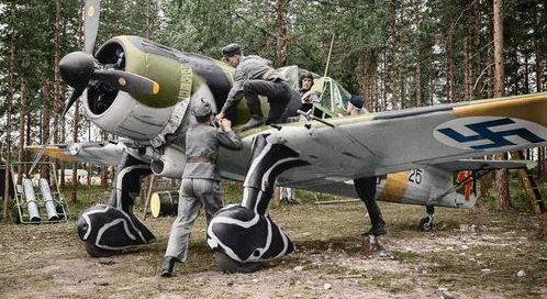 Финский Fokker D-XXI, FR-125 в Hyvinkää. 14 июня 1941 г.