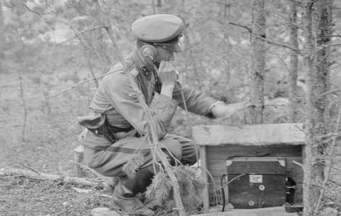 Полевой телефон на фронте Ханко. 3 июля 1941 г.